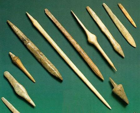 наконечники из костей